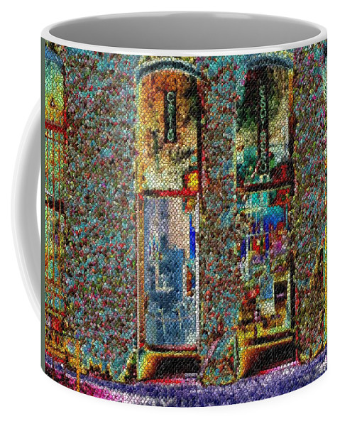 Seattle Coffee Mug featuring the digital art Grand Central Bakery Mosaic by Tim Allen