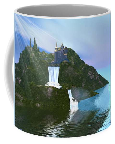 Ancient Coffee Mug featuring the painting Grand Illusion by Corey Ford
