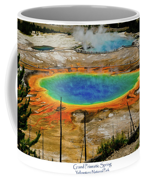 Grand Prismatic Spring Coffee Mug featuring the photograph Grand Prismatic Spring by Greg Norrell