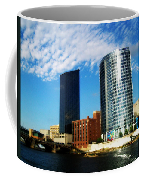 Grand Rapids Coffee Mug featuring the photograph Grand Rapids Michigan Is Grand by Michelle Calkins