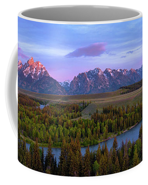 Grand Tetons Coffee Mug featuring the photograph Grand Tetons by Chad Dutson