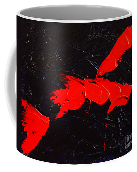 Abstract Coffee Mug featuring the painting Grandma I by Dean Triolo
