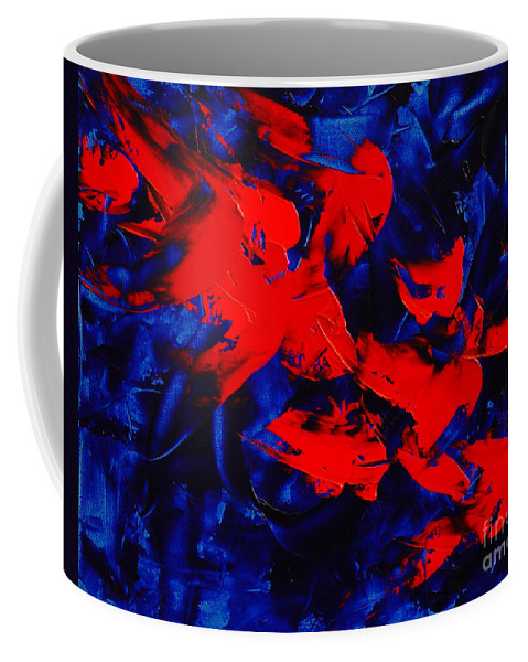Abstract Coffee Mug featuring the painting Grandma II by Dean Triolo