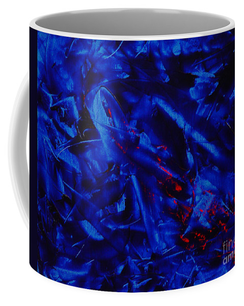 Abstract Coffee Mug featuring the painting Grandma IIi by Dean Triolo