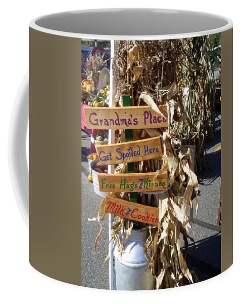 Grandma Coffee Mug featuring the photograph Grandma's Place Get Spoiled Here by Kent Lorentzen
