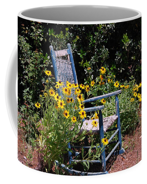 Rocking Chair Coffee Mug featuring the photograph Grandma's Rocking Chair by Susanne Van Hulst