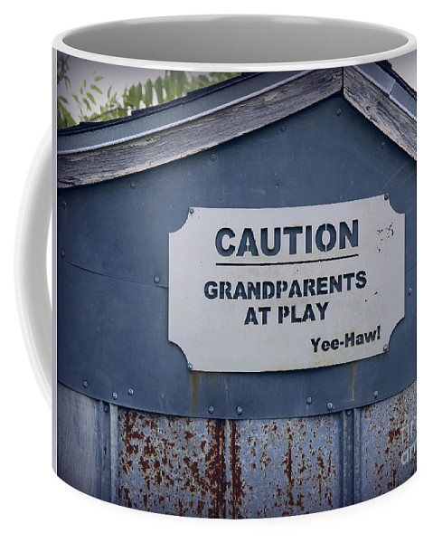 Grandparents Coffee Mug featuring the photograph Grandparents At Play by Ella Kaye Dickey