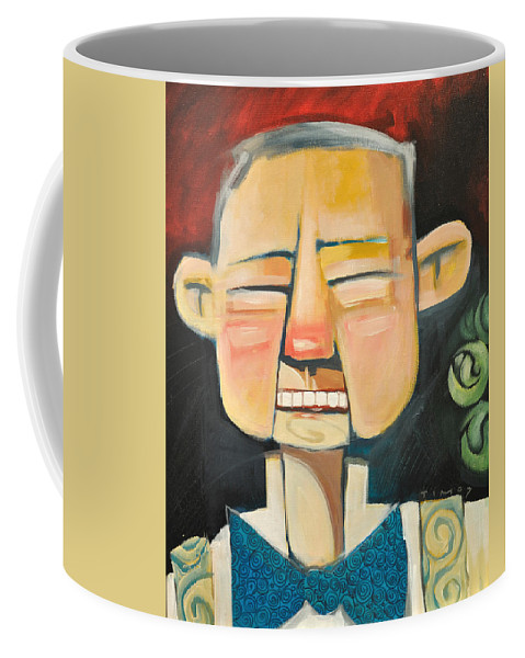 Grandpa Coffee Mug featuring the painting Grandpas New Teeth by Tim Nyberg
