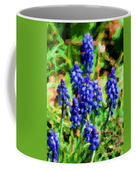 Grape Hyacinths Coffee Mug featuring the photograph Grape Hyacinths by David Lane