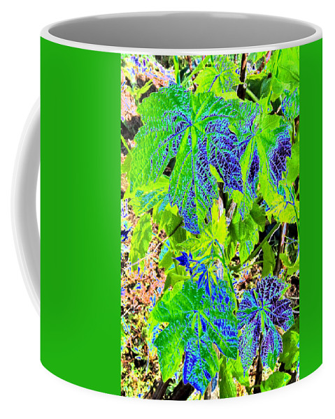 Grape Leaves Coffee Mug featuring the digital art Grape Leaves by Will Borden