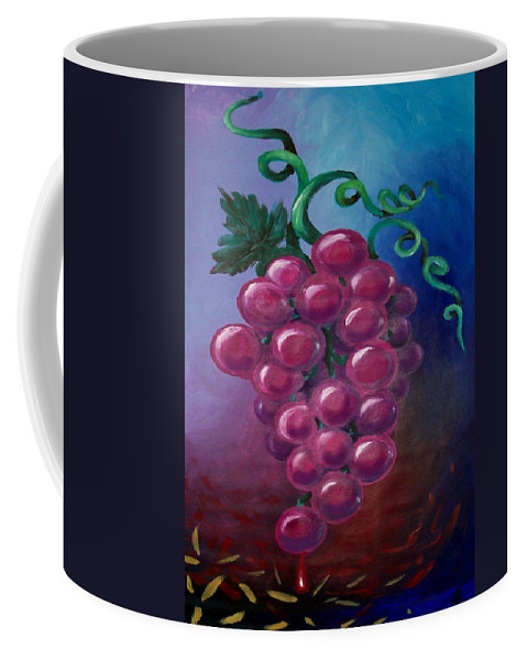 Grape Coffee Mug featuring the painting Grapes by Kevin Middleton