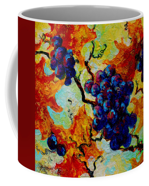 Grapes Coffee Mug featuring the painting Grapes Mini by Marion Rose
