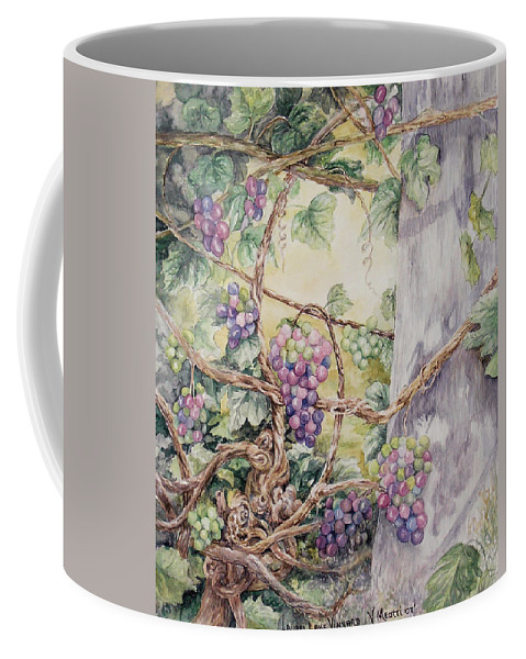 Vines Coffee Mug featuring the painting Grapevine Laurel Lakevineyard by Valerie Meotti