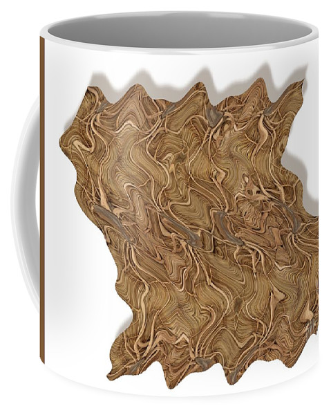 Abstract Coffee Mug featuring the digital art Grass Works by Ron Bissett
