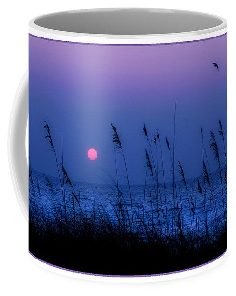 Grass Coffee Mug featuring the photograph Grasses Frame The Setting Sun In Florida by Mal Bray