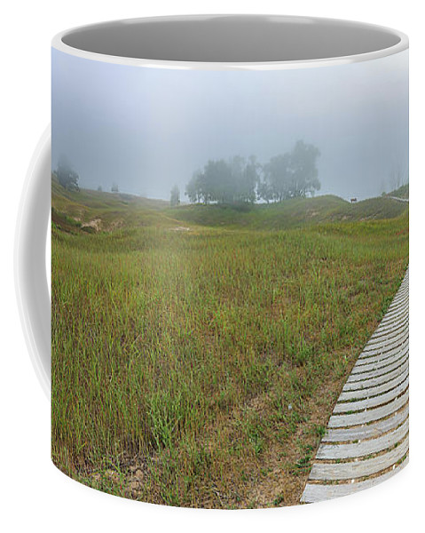 Boardwalk Coffee Mug featuring the photograph Grassy Sand Dunes by Andrew Slater