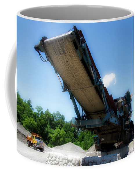 Gravel Pit Coffee Mug featuring the photograph Gravel Pit Warrior Power Screen 01 by Thomas Woolworth