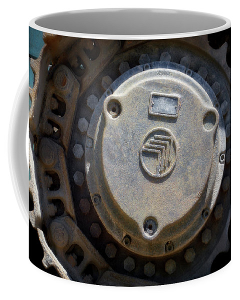 Gravel Pit Coffee Mug featuring the photograph Gravel Pit Warrior Power Screen 04 by Thomas Woolworth