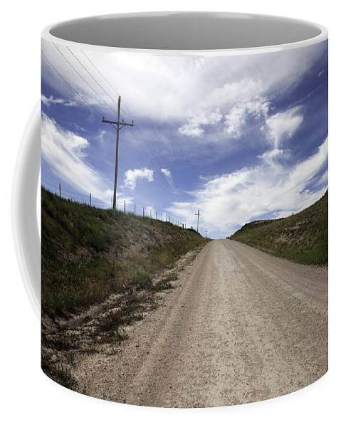 Gravel Coffee Mug featuring the photograph Gravel Road by Scott Sanders