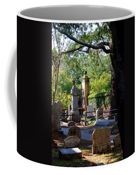 Photography Coffee Mug featuring the photograph Graveyard In Charleston by Susanne Van Hulst