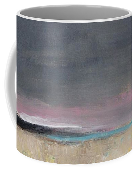 Landscape Coffee Mug featuring the painting Gray Sky by Vesna Antic