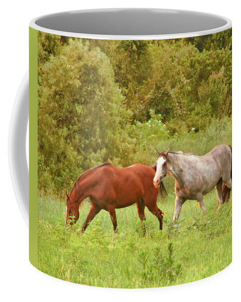 Grazing Coffee Mug featuring the photograph Grazin' In The Grass by Adele Moscaritolo