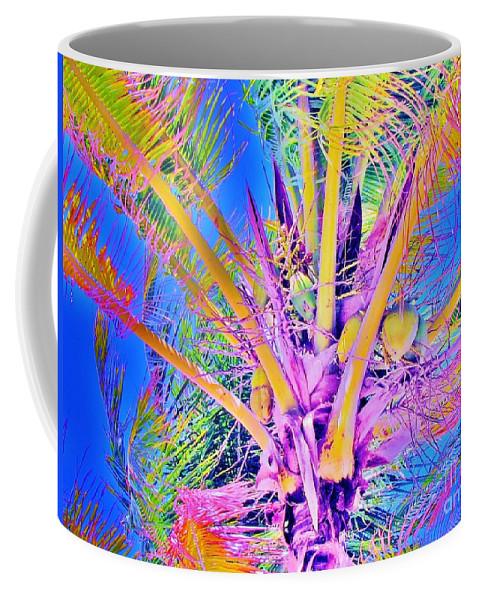 Jellee Pix Coffee Mug featuring the digital art Great Abaco Palm by Keri West