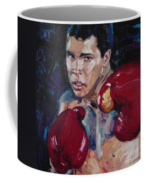 Figurative Coffee Mug featuring the painting Great Ali by Sergey Ignatenko