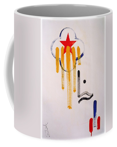 Drawing Coffee Mug featuring the painting Great American Image by Charles Stuart