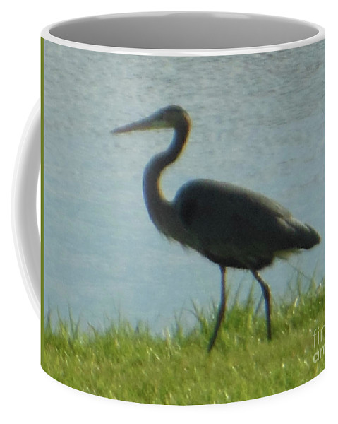 Great Blue Heron Coffee Mug featuring the photograph Great Blue Heron by Rockin Docks Deluxephotos