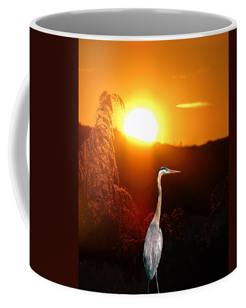 Sunset Coffee Mug featuring the photograph Great Blue Sunset by Adele Moscaritolo