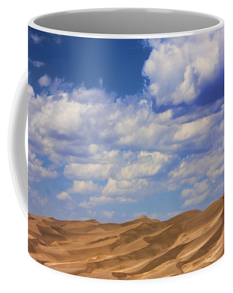 the Great Colorado Sand Dunes Coffee Mug featuring the photograph Great Colorado Sand Dunes Mixed View by James BO Insogna