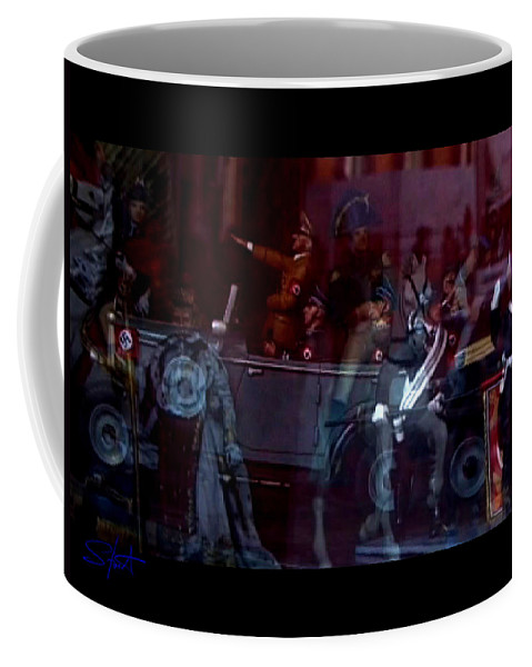 Dream Coffee Mug featuring the photograph Great Dictators As Tin Men by Charles Stuart