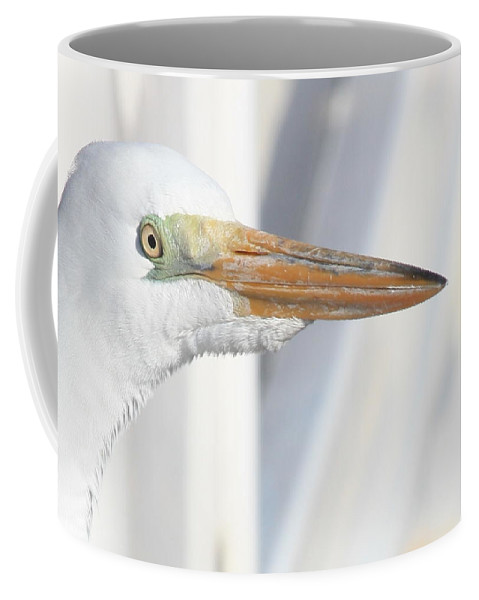 Great Egret Coffee Mug featuring the photograph Great Egret Profile 2 by Carol Groenen