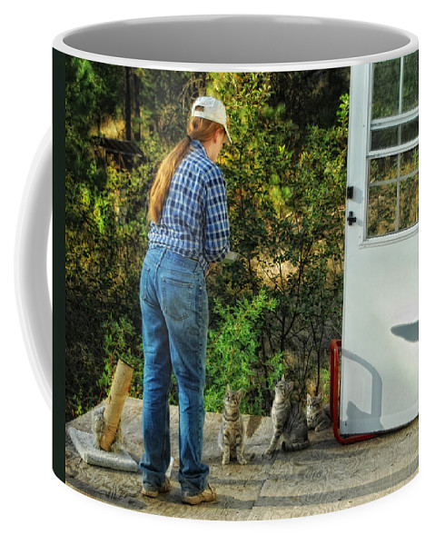 Cats Coffee Mug featuring the photograph Great Expectations by Donna Blackhall