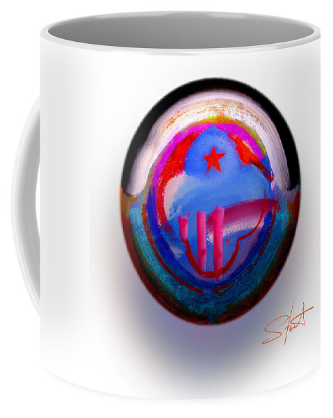 9/11 Coffee Mug featuring the painting Great Glad Morning by Charles Stuart