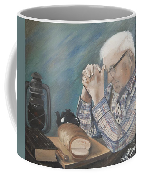 Great Grandpa Coffee Mug featuring the painting Great Grandpa by Jacqueline Athmann