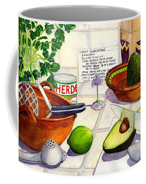 Guacamole Coffee Mug featuring the painting Great Guac. by Catherine G McElroy