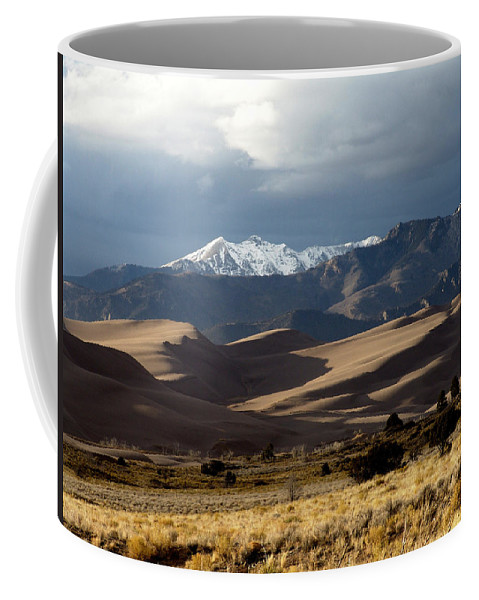 Sand Coffee Mug featuring the photograph Great Sand Dunes National Park by Carol Milisen