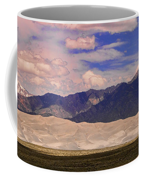 Colorado Coffee Mug featuring the photograph Great Sand Dunes Panorama 2 by James BO Insogna