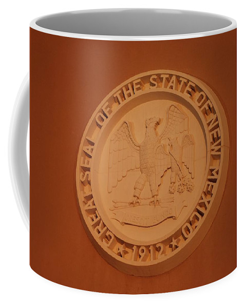 Eagle Coffee Mug featuring the photograph Great Seal Of The State Of New Mexico 1912 by Rob Hans