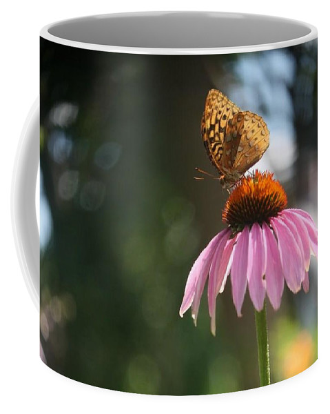 Butterfly Coffee Mug featuring the photograph Great Spangled Fritillary by Debra Sandstrom