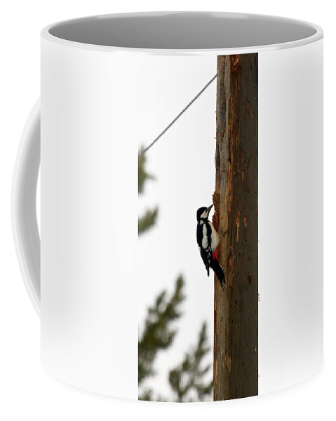 Lehtokukka Coffee Mug featuring the photograph Great Spotted Woodpecker by Jouko Lehto