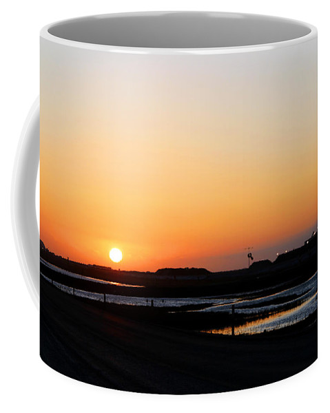 Landscape Coffee Mug featuring the photograph Greater Prudhoe Bay Sunrise by Anthony Jones