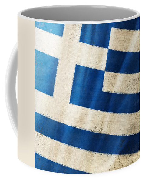 Chalk Coffee Mug featuring the photograph Greece Flag by Setsiri Silapasuwanchai