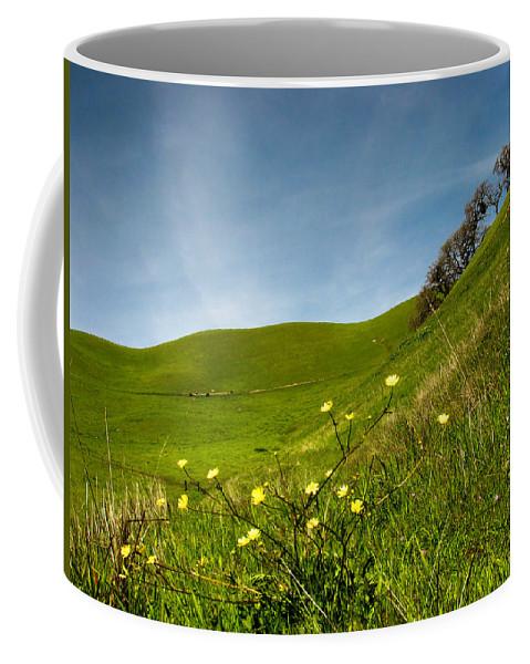 Landscape Coffee Mug featuring the photograph Green 4 Flowers by Karen W Meyer
