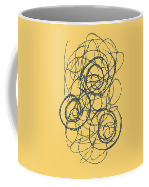 Green Coffee Mug featuring the painting Green And Gold 2 by Julie Niemela