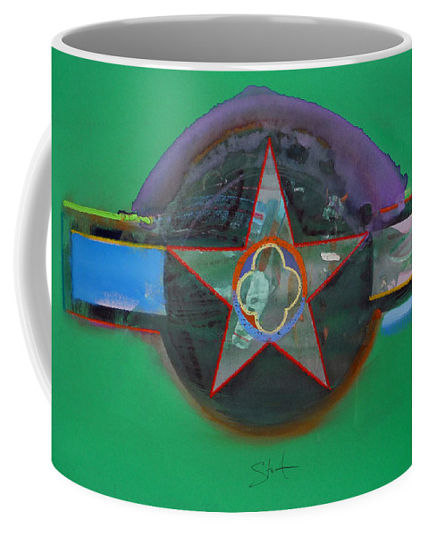 Star Coffee Mug featuring the painting Green And Violet by Charles Stuart