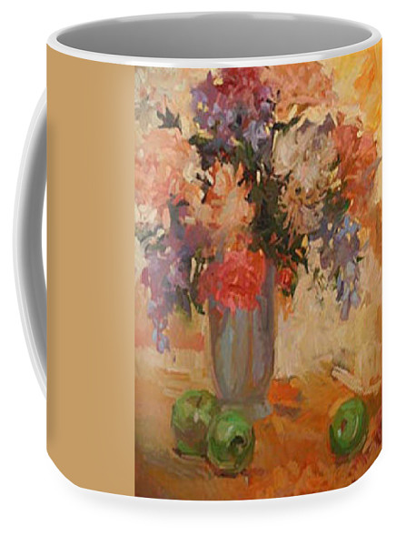 Still Life Coffee Mug featuring the painting Green Apples by Betty Jean Billups