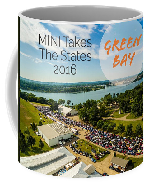 Mtts Coffee Mug featuring the photograph Green Bay Rise/shine 2 W/text by That MINI Show